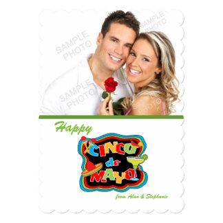 Cartões com fotos da tipografia de Cinco De Mayo