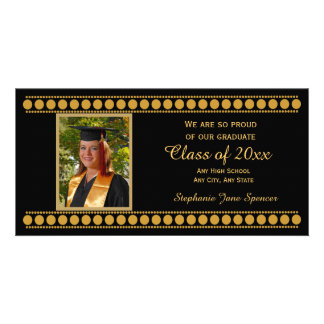 Cartões com fotos do anúncio da graduação