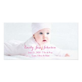 Cartões com fotos do anúncio do nascimento