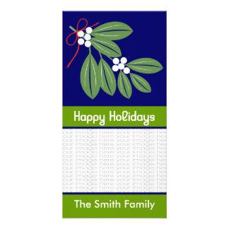 Cartões com fotos do beijo do Natal