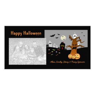 Cartões com fotos do Dia das Bruxas do cemitério d