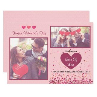 Cartões com fotos do dia dos namorados convite 12.7 x 17.78cm
