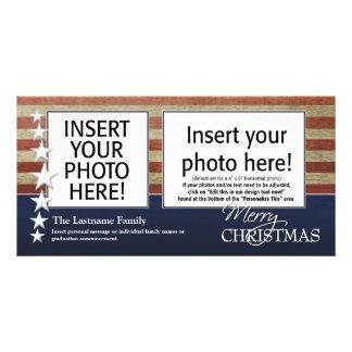 Cartões com fotos do Feliz Natal - forças armadas