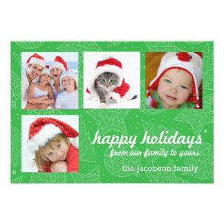 Cartões com fotos do feriado do verde e do White Convite