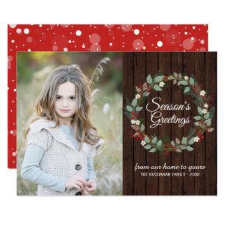 Cartões com fotos do feriado dos cumprimentos da