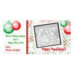 Cartões com fotos do Polaroid do Natal