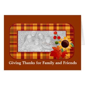 Cartões com fotos felizes da acção de graças