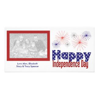 Cartões com fotos felizes do Dia da Independência