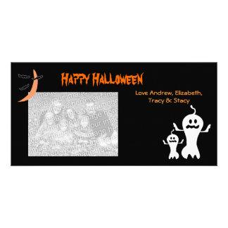 Cartões com fotos felizes do Dia das Bruxas