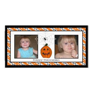 Cartões com fotos felizes do Dia das Bruxas Spider