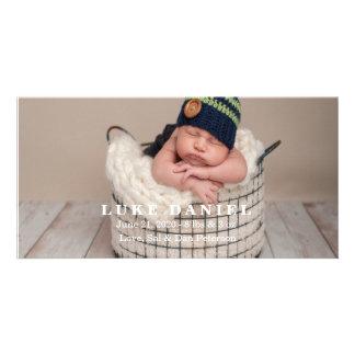 Cartões com fotos novos do anúncio do bebê