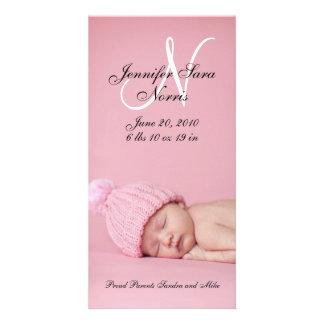 Cartões com fotos novos do anúncio do nascimento d