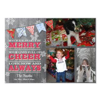 Cartões com fotos rústicos da estamenha do Natal
