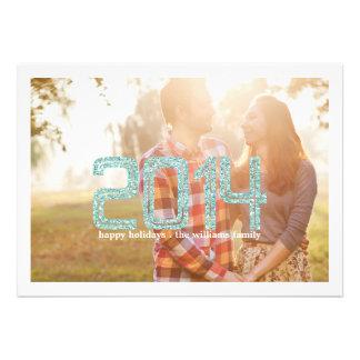 Cartões com fotos simples do feriado do brilho convite