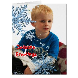 Cartões com fotos temáticos dos flocos de neve