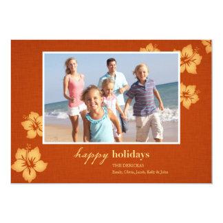 Cartões com fotos tropicais do feriado da praia convites