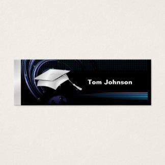 Cartões conhecidos da graduação - azul e prata