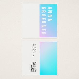 Cartões cor-de-rosa azuis do artista do inclinação