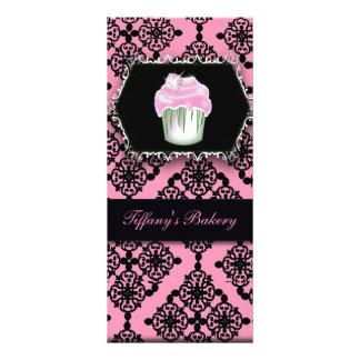 Cartões cor-de-rosa da cremalheira da padaria do c 10.16 x 22.86cm panfleto