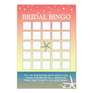 Cartões cor-de-rosa do Bingo do chá de panela da Convite 8.89 X 12.7cm