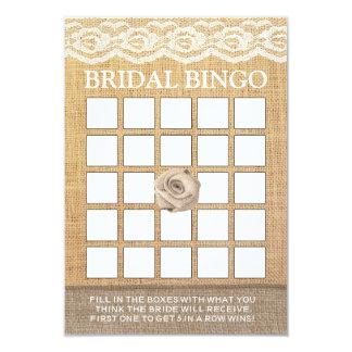 Cartões cor-de-rosa do Bingo do chá de panela de Convite 8.89 X 12.7cm