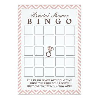 Cartões cor-de-rosa do Bingo do chá de panela do Convite 8.89 X 12.7cm