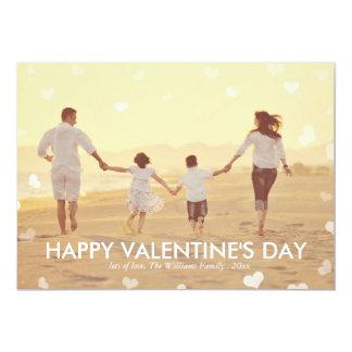 Cartões cor-de-rosa do dia dos namorados da convite 12.7 x 17.78cm