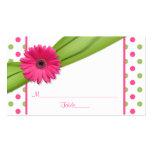 Cartões cor-de-rosa do lugar da fita das bolinhas  cartoes de visita
