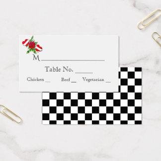 Cartões cor-de-rosa do lugar do casamento dos
