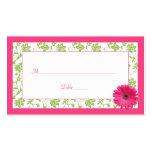 Cartões cor-de-rosa do lugar do casamento tema dam