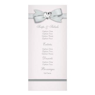 Cartões cor-de-rosa elegantes do menu do chá de fr 10.16 x 22.86cm panfleto