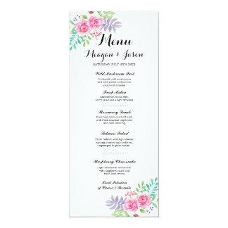 Cartões cor-de-rosa florais elegantes da recepção