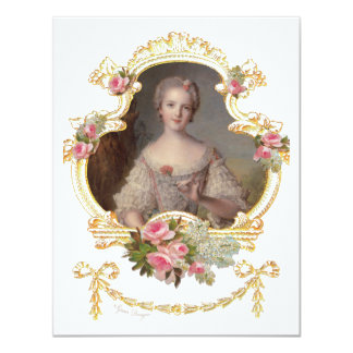 Cartões cor-de-rosa novos dos rosas da rainha convite 10.79 x 13.97cm