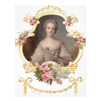 Cartões cor-de-rosa novos dos rosas da rainha flyer 21.59 x 27.94cm