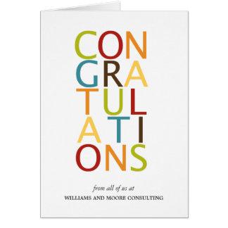 Cartões corajosos das felicitações das letras