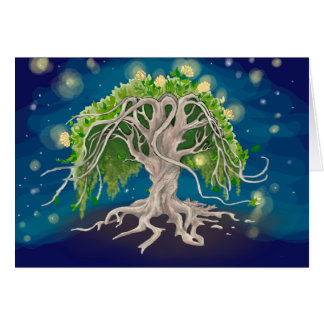 Cartões cósmicos da árvore