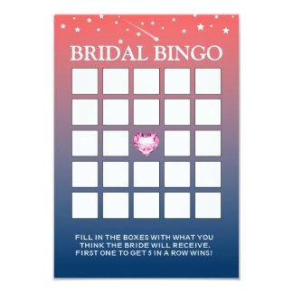Cartões crepusculares cor-de-rosa & azuis do Bingo Convite 8.89 X 12.7cm