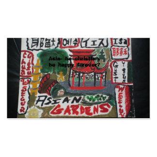 Cartões cristãos asiáticos do intervalo/multi cartão de visita
