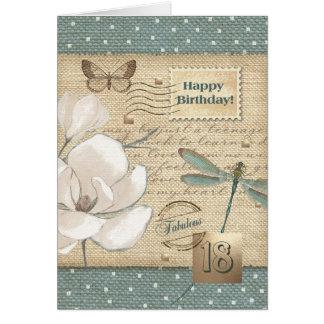 Cartões customizáveis do 18o aniversário feliz