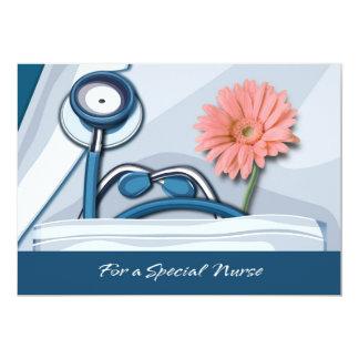 Cartões customizáveis do dia das enfermeiras convite 12.7 x 17.78cm