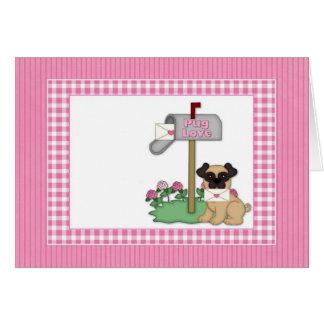 Cartões customizáveis dos namorados do Pug, cartõe