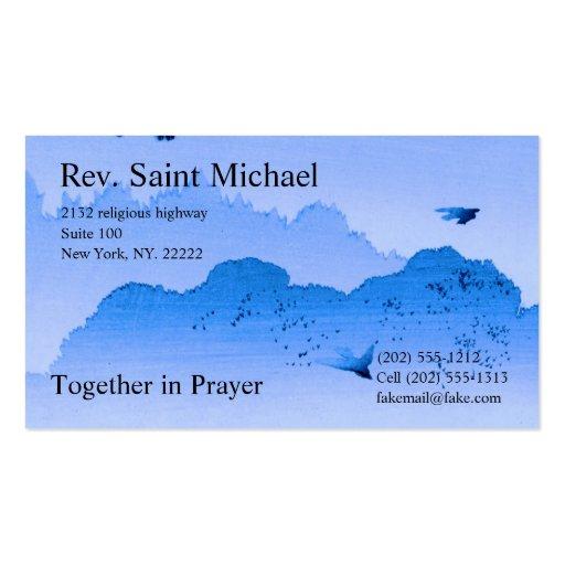 Cartões da administração da igreja modelo cartão de visita