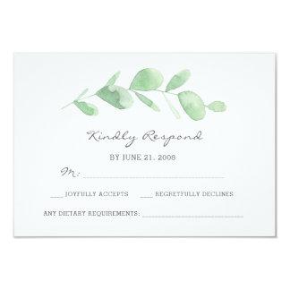 Cartões da aguarela RSVP do jardim do eucalipto