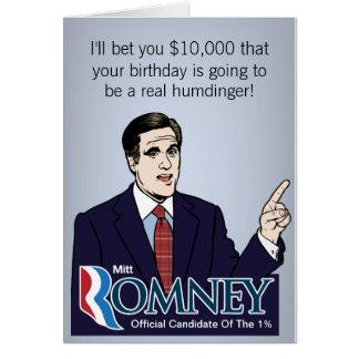 Cartões da aposta de Mitt Romney $10k
