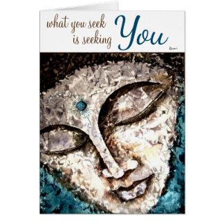 Cartões da arte da aguarela de Buddha das citações