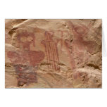 Cartões da arte da rocha da garganta de Sego