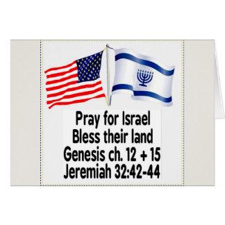 Cartões da bandeira israelita/bandeira americana