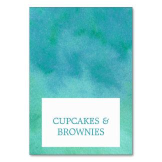 Cartões da barraca da comida da praia do destino