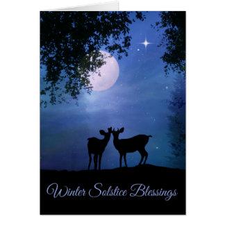 Cartões da bênção do solstício de inverno da