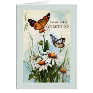 Cartões da borboleta da páscoa do vintage